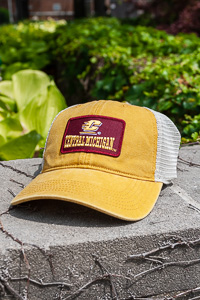 Central Michigan Patch Mustard Trucker Hat