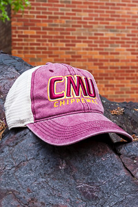CMU Chippewas Faded Maroon Trucker Hat
