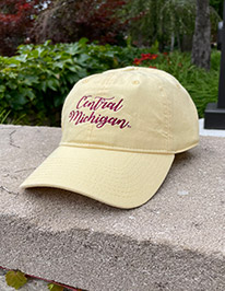 Central Michigan Script Sunglow Yellow Adjustable Hat