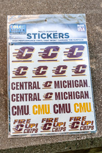 Central Michigan Assorted Vinyl Stickers<br><small>COLOR SHOCK</small>