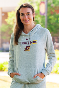 Central Michigan Heather Varsity Women's Fleece Hoodie<br><small>NIKE</small>
