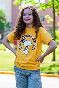 Snoopy Central Michigan University Children's Gold T-Shirt