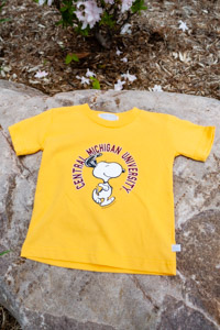 Snoopy Central Michigan University Children's Gold T-Shirt