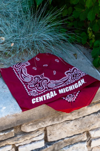 Central Michigan Maroon Bandana