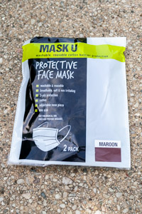 Mask U Reusable Maroon Protective Face Mask (2 pack)