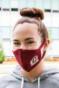 Flying C Maroon Face Mask<br><small>BLUE 84</small>