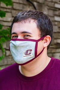 Flying C Heather Face Mask<br><small>BLUE 84</small>