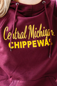 Central Michigan Chippewas Maroon Women's Hoodie<br><small>CHAMPION</small>