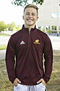 Flying C Central Michigan Maroon Tech ¼ Zip<br><small>ADIDAS</small>