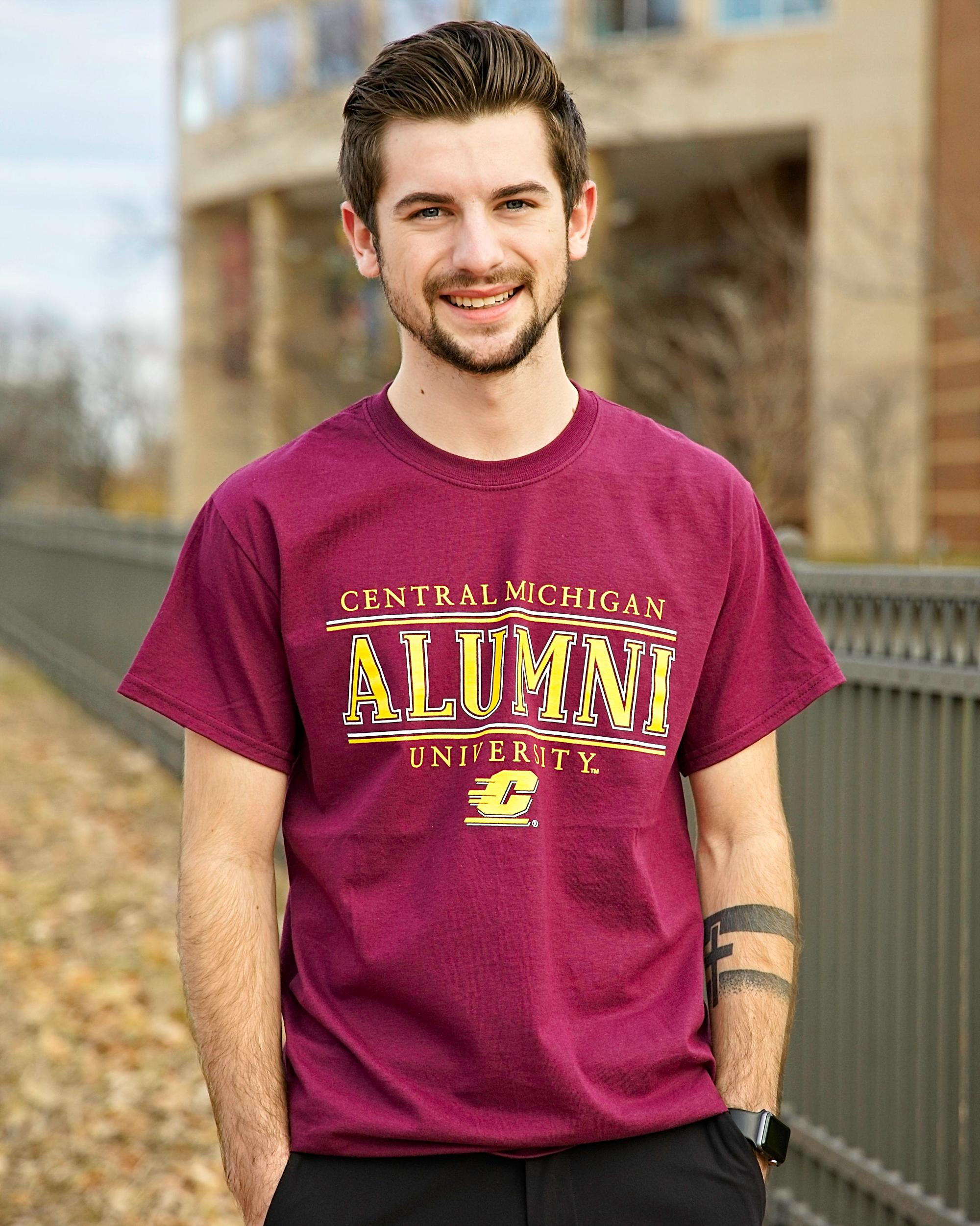Central Michigan University Alumni Maroon T-Shirt<br><small>MV SPORT</small> (SKU 5049827798)