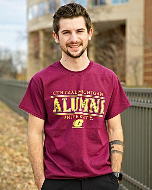 Central Michigan University Alumni Maroon T-Shirt<br><small>MV SPORT</small>