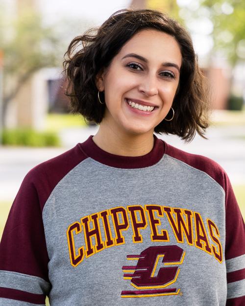 Chippewas Action C Gray Heather & Maroon Raglan Crew<br><brand>CHAMPION</brand>