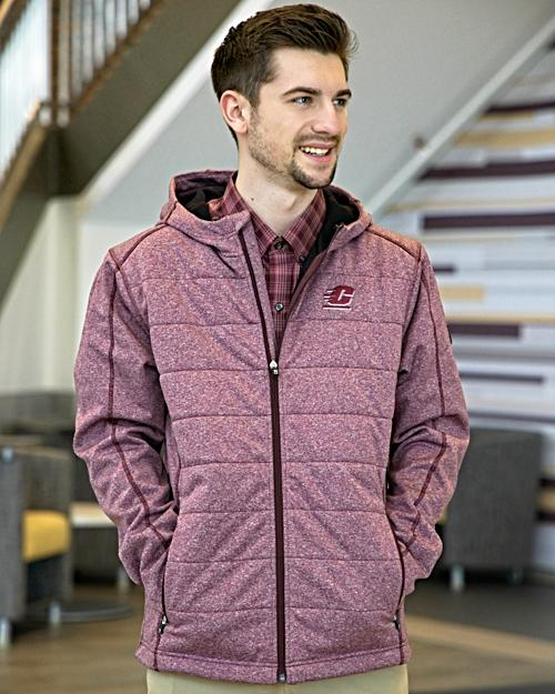 Flying C Altitude Dusty Maroon Quilted Hooded Jacket