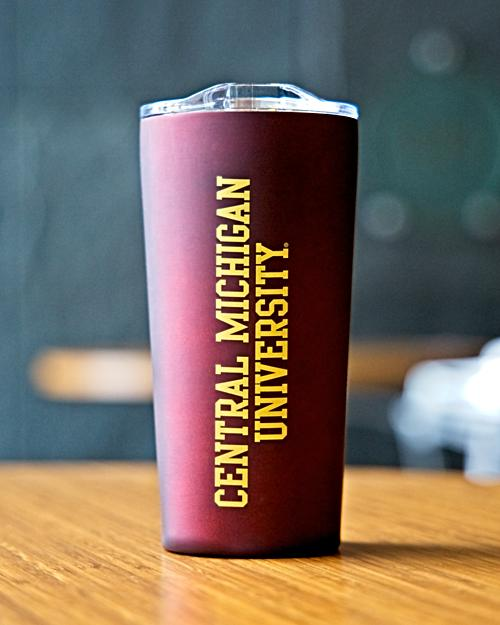 Central Michigan University Matte Maroon Tumbler