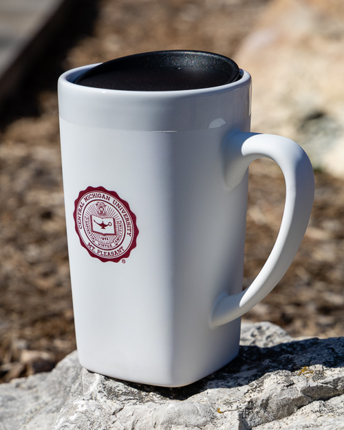 University Seal White Soft Touch Ceramic Mug