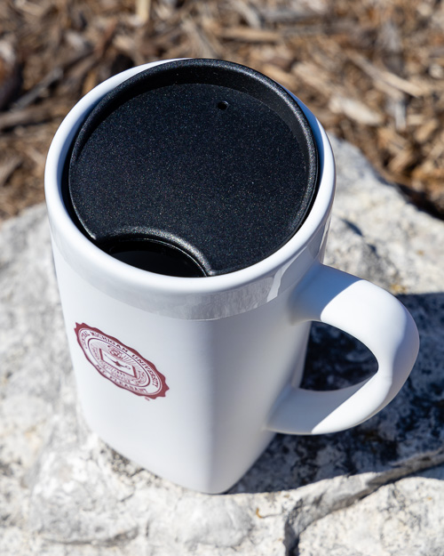 University Seal White Soft Touch Ceramic Mug