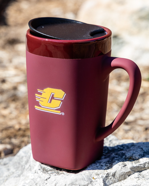 Flying C Maroon Soft Touch Ceramic Mug