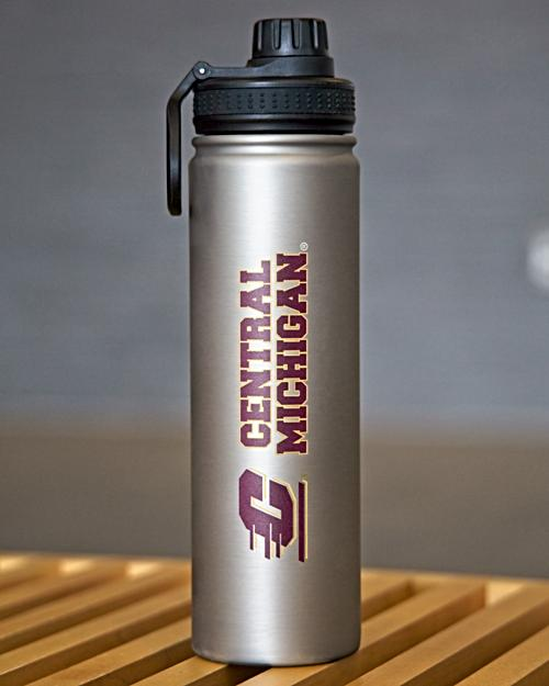 Flying C Central Michigan Matte Silver Bottle