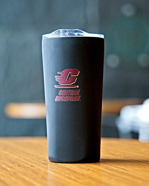 Flying C Central Michigan Matte Black Tumbler