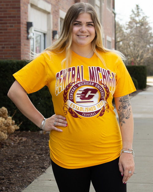 Central Michigan Established 1892 Graphic Gold T-Shirt