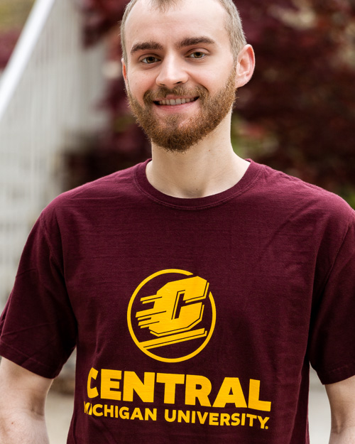 Flying C Central Michigan University Maroon T-Shirt<br><brand>COMFORT WASH</brand>
