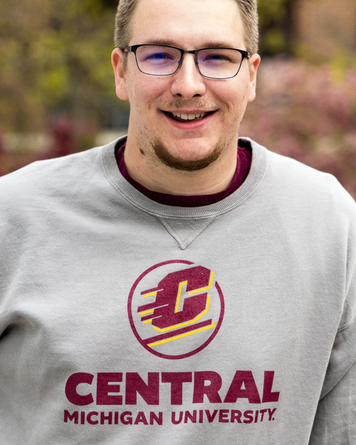 Action C Central Michigan University Concrete Fleece Crew<br><brand>COMFORT WASH</brand>